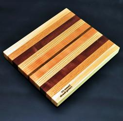 Upstate NY Cutting Board 8.5 x 10 x 1 Mixed Hard Wood, Purpl