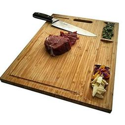 HHXRISE Venfon Large Organic Bamboo Cutting Board For Kitche