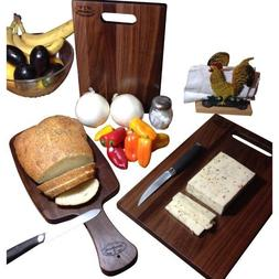 Walnut Cutting Board Hard Wood Reversible Bread Paddle Chees