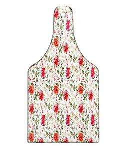 Ambesonne Watercolor Cutting Board, Fresh Poinsettia Flowers