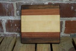 """Handmade Wood Cutting Board Made by our Woodshop 10"""" x 10"""""""