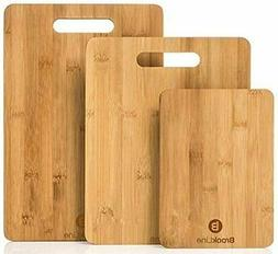 Brookline Wood Cutting Board Set - 3 Charcuterie Boards for