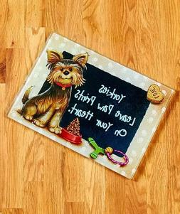 Yorkie Dog Breed Cutting Board Pet Lover Kitchen Home Decor